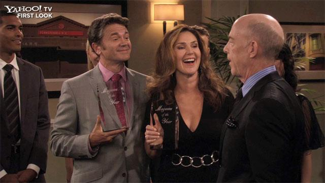 Peri Gilpin on 'Men at Work'
