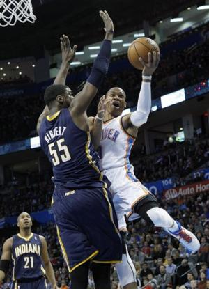 Thunder offense too much for Pacers' D, 104-93