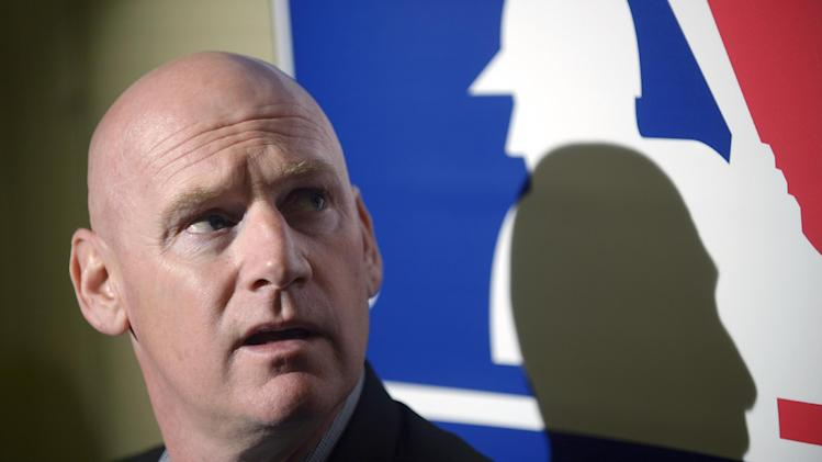 Washington Nationals manager Matt Williams answers questions from reporters during a media availability at baseball's winter meetings in Lake Buena Vista, Fla., Tuesday, Dec. 10, 2013
