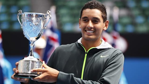 Nick Kyrgios has won the junior Australian Open (Reuters)
