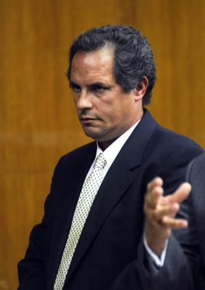 Thomas Rica, a former employee of the Village of Ridgewood, N.J., appears for his sentencing Wednesday, July 9, 2014, in Hackensack, N.J. Rica, who admitted stealing $460,000 in quarters over two years, has been spared a prison term. A judge instead sentenced Rica to five years of probation. (AP Photo/Northjersey.com, Carmine Glasso, Pool)