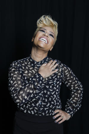 "In this April 25, 2012 file photo, Scottish soul and R&B recording artist Emeli Sandé poses for a portrait in New York. After penning songs for acts like Susan Boyle, Cheryl Cole and Tinie Tempah through a publishing deal, the singer said getting her own recording contract wasn't easy, mainly because record executives couldn't picture Sande as the artist behind the songs she was writing. She eventually found a home at a label that let her belt her pipes over R&B beats and pop grooves. ""Our Version of Events,"" her debut, was released in June. (AP Photo/Amy Sussman, file)"