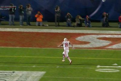 Trick play nearly leads to great Nebraska fat guy touchdown