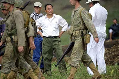 Producer Terence Chang and director John Woo of MGM's Windtalkers