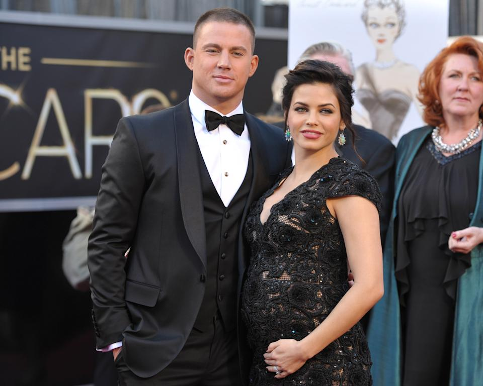 Actors Channing Tatum, left, and Jenna Dewan-Tatum arrive at the 85th Academy Awards at the Dolby Theatre on Sunday Feb. 24, 2013, in Los Angeles. (Photo by John Shearer/Invision/AP)