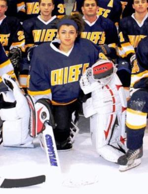 Female Ice Hockey Goalie Shines on Long Island Boys Varsity Team