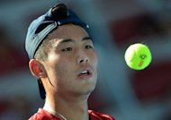 Zhang Ze of China, seen here during his quarterfinal men's singles match against Florian Mayer of Germany, at the China Open tennis tournament in the National Tennis Center of Beijing, on October 5. Mayer won 6-3, 6-4