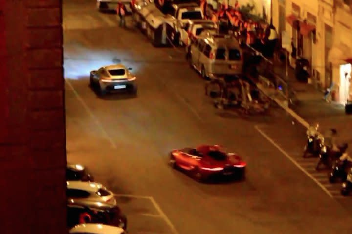 Watch a Jaguar Chase an Aston Martin During Filming of 'SPECTRE'