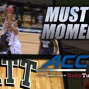 Pitt's Robinson Hits Game-Winner To Beat Notre Dame | ACC Must See Moment