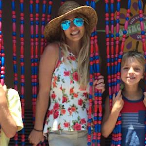 Britney Spears and Sons Recreate Her Iconic 'Oops!' Album Cover