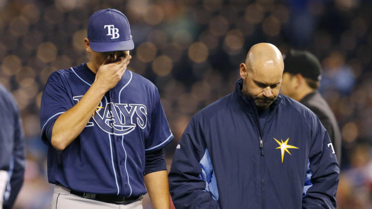 Rays' Moore on disabled list with elbow injury