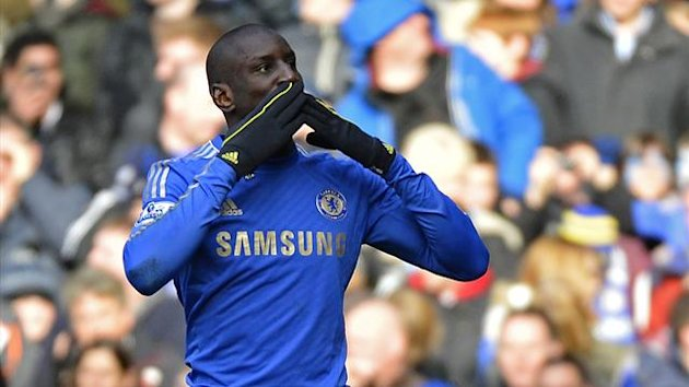Demba Ba celebrates his goal against West Bromwich (Reuters)