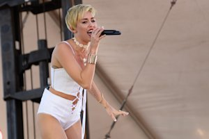 Miley Cyrus performs at IHeartRadio Music Village, …
