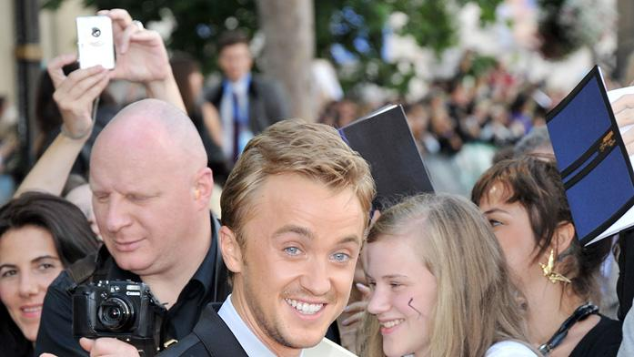Harry Potter and the Deathly Hallows Part 2 2011 UK Premiere Tom Felton