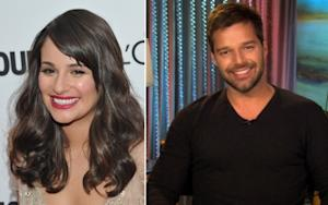 Lea Michele, Ricky Martin -- Access Hollywood / Getty Images