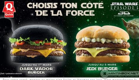 Fast Food Chain Serves Black Burgers for Star Wars Fans