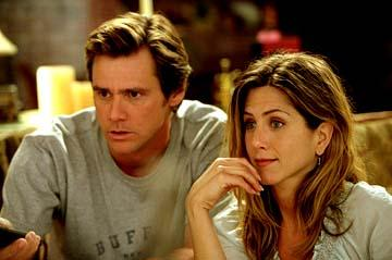 Jim Carrey and Jennifer Aniston in Universal's Bruce Almighty