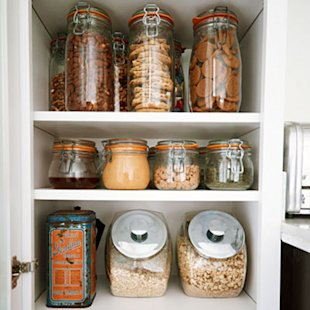 Use space-saving containers