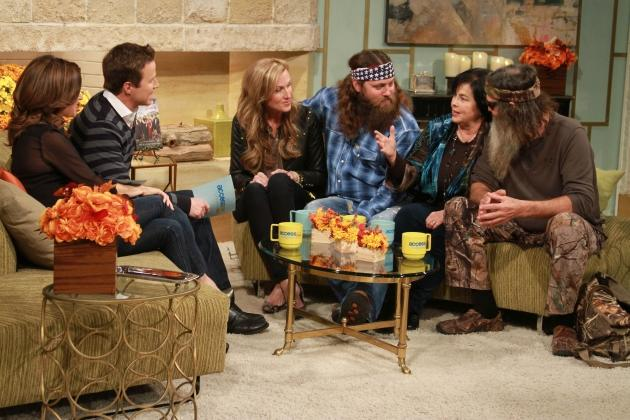 Willie, Korie, Phil and Miss Kay Robertson of 'Duck Dynasty' visit Access Hollywood on November 19, 2012  -- NBC