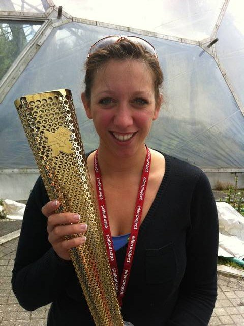 Jess Ratty with the Olympic Torch