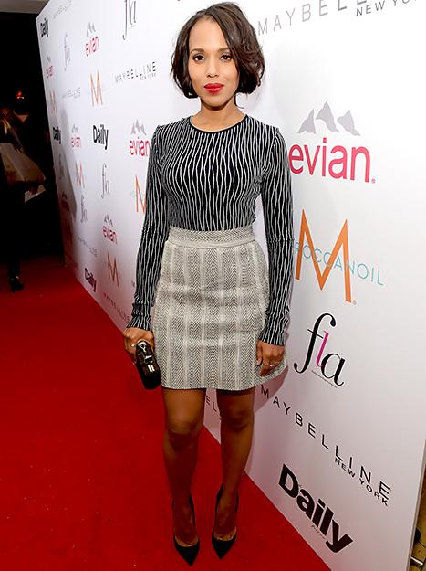 """Kerry Washington on Being Pregnant in Christian Louboutin High Heels: """"My Mother Held Her Breath the Whole Time"""""""