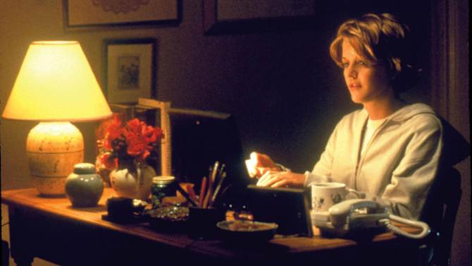 "This image released by Warner Bros. Home Video shows actress Meg Ryan in a scene from the romantic comedy ""You've Got Mail,"" directed, co-written and co-produced by Nora Ephron. Publisher Alfred A. Knopf confirmed Tuesday, June 26, 2012, that author and filmmaker Nora Ephron died Tuesday of leukemia in New York. She was 71. (AP Photo/Warner Bros. Home Video)"