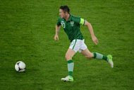 Irish captain Robbie Keane during the Euro 2012 match against Spain on June 14. Although they are out, Keane says they are determined not to go home without any points