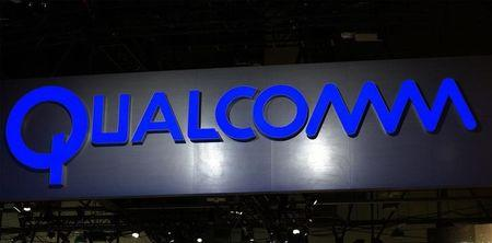 The sign hanging outside the Qualcomm booth is seen at the International Consumer Electronics show (CES) in Las Vegas