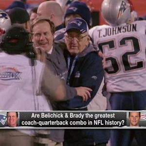 New England Patriots head coach Bill Belichick, quarterback Tom Brady: Best coach quarterback combo ever?