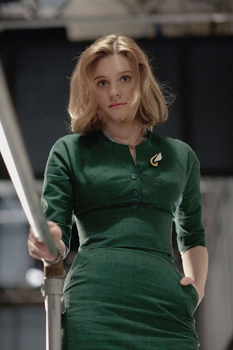 "Romola Garai stars as Bel Rowley in ""The Hour."""