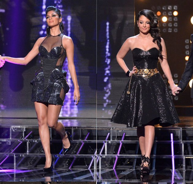 X Factor week 3, part 2. Our jaws dropped when we saw Tulisa and Nicole in these incredible dresses. We loved Tulisa's shimmering prom dress and chic hairstyle. However, Nicole took sexiness to whole