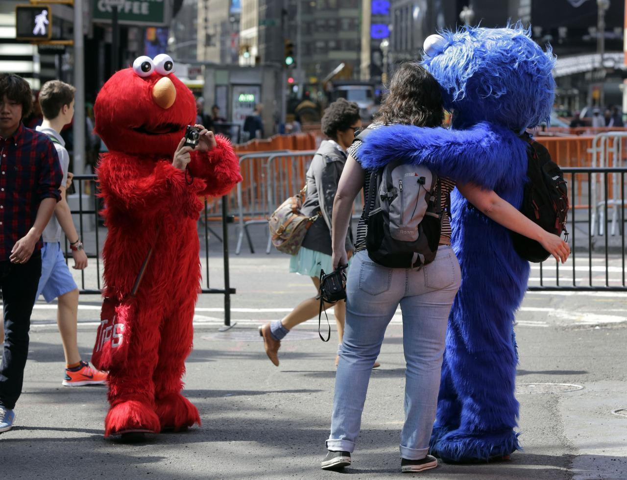 Cookie Monster, Minnie Mouse Arrested for Harassing Tourist in Times Square