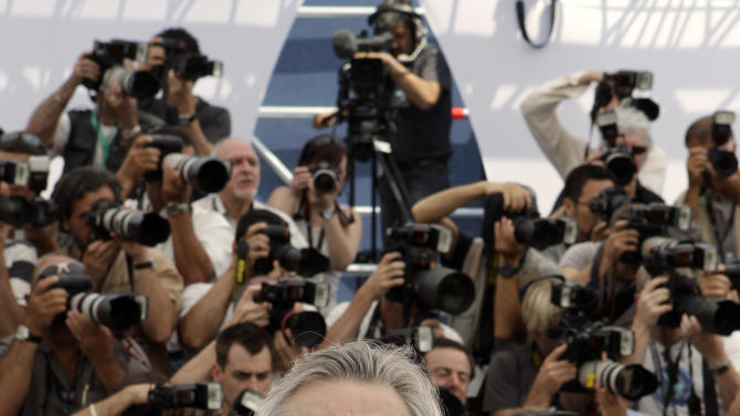 President of the Jury Robert De Niro poses during a photo call for members of the jury, at the 64th international film festival, in Cannes, southern France, Wednesday, May 11, 2011. (AP Photo/Lionel Cironneau)