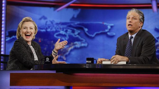 "Hillary Rodham Clinton on ""The Daily Show with Jon Stewart,"" Tuesday"