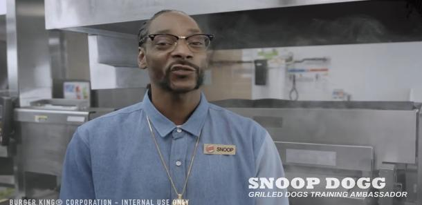 Watch Snoop Dogg Poetically Introduce Burger King Employees to New Grilled Hot Dogs