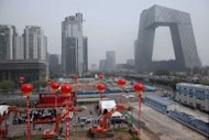 <p>This file photo shows a ground-breaking ceremony for a new hotel in Beijing, close to the China Central Television (CCTV) building. China's capital is among the cities the Dorchester Collection brand is eyeing.</p>
