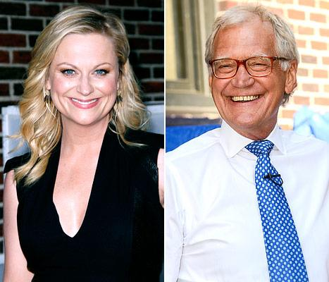 David Letterman Kisses Amy Poehler!