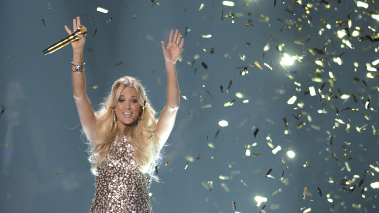 Singer Carrie Underwood performs at the 2012 CMT Music Awards on Wednesday, June 6, 2012 in Nashville, Tenn. (Photo by John Shearer/Invision/AP)