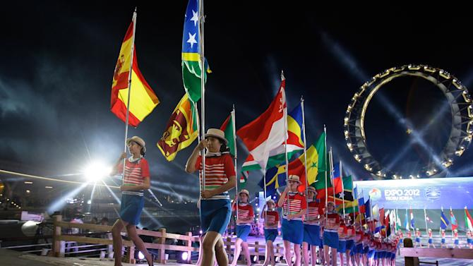 Expo 2012 Yeosu Official Opening Ceremony Takes Place