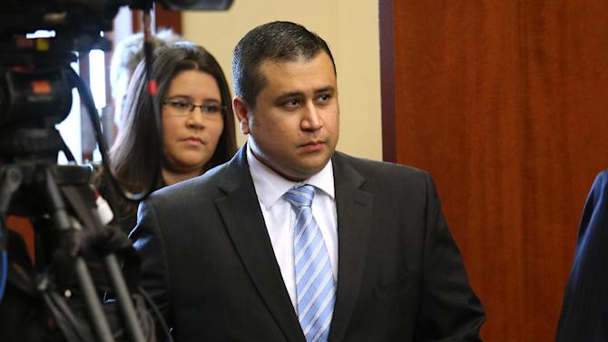 George Zimmerman arrives for the 16th day of his trial in Seminole circuit court, in Sanford, Fla., Monday, July 1, 2013. Zimmerman has been charged with second-degree murder for the 2012 shooting death of Trayvon Martin.(AP Photo/Orlando Sentinel, Joe Burbank, Pool)