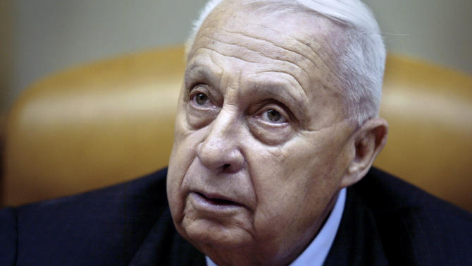 FILE -In this Sunday Jan. 30, 2005 file photo, Israeli Prime Minister Ariel Sharon pauses during the weekly cabinet meeting in his Jerusalem office. The Israeli hospital treating Sharon said Thursday, Jan. 9, 2014 that the former prime minister has deteriorated further and he is now in 'grave' condition. Sharon, who has been comatose since suffering a stroke eight years ago, suffered a downturn in his health last week with a decline in key bodily organs.(AP Photo/Oded Balilty, Pool, File)