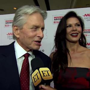 EXCLUSIVE: Michael Douglas and Catherine Zeta Jones Dish on Date Nights and Raising Teenagers