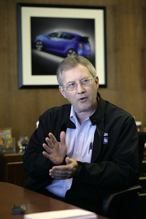In this April 25, 2012 photo, Steve Brock, Orion Assembly plant manager, answers a reporters question in Orion Township, Mich. Nearly four years after GM filed for bankruptcy protection, the automaker