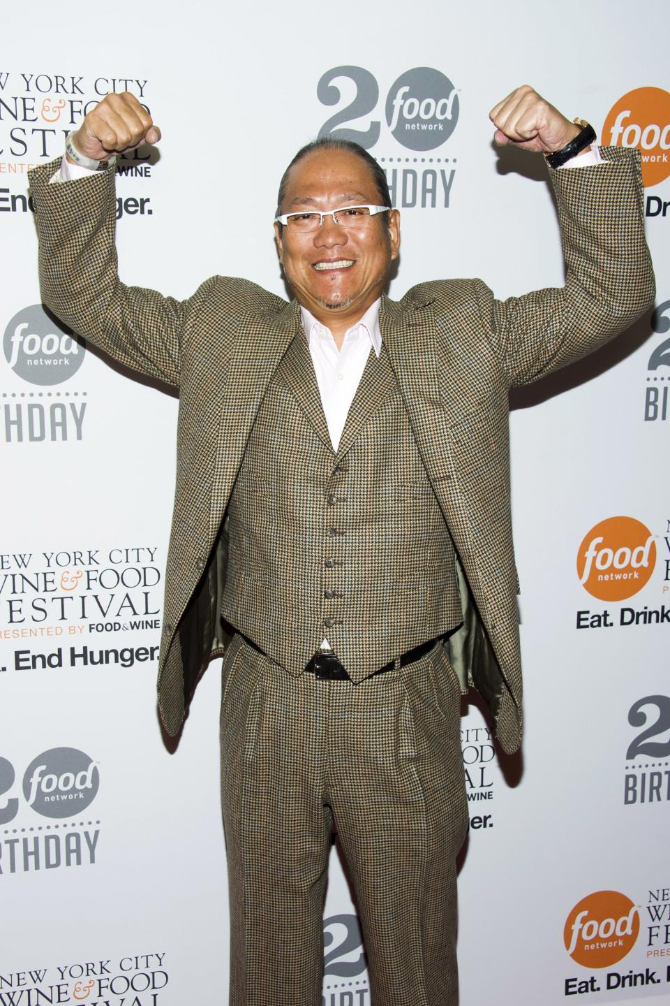 Masaharu Morimoto attends the Food Network's 20th birthday party on Thursday, Oct. 17, 2013, in New York. (Photo by Charles Sykes/Invision/AP)