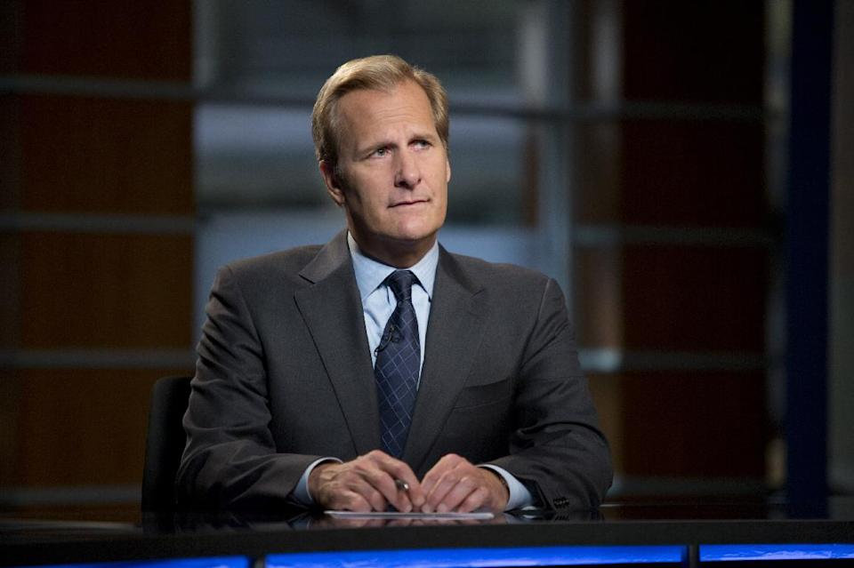 "This undated publicity image released by HBO shows Jeff Daniels as Will McAvoy in the news drama series, ""The Newsroom."" The second season premieres Sunday, July 14, at 10 p.m. on HBO. (AP Photo/HBO, Melissa Moseley)"