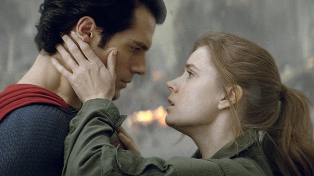 Henry Cavill and Amy Adams in 'Man of Steel'