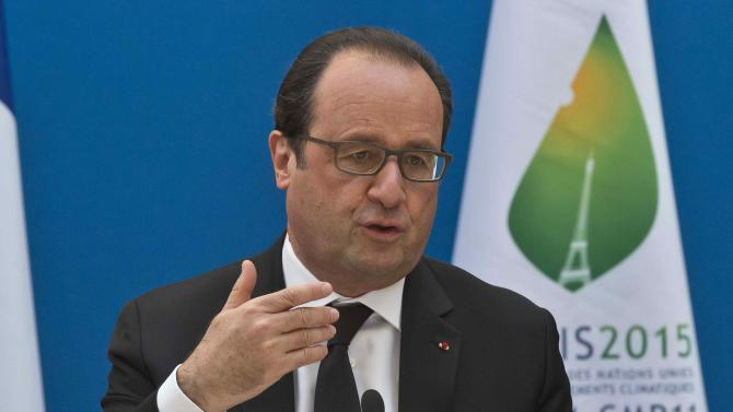 French President Francois Hollande attends a France-Oceania summit at the Elysee Palace in Paris
