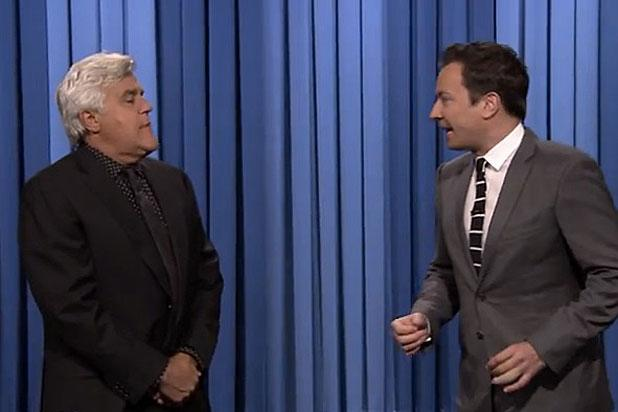 Jay Leno Subs in for Jimmy Fallon When 'Tonight Show' Host 'Pulls a Hamstring' During Monologue (Video)