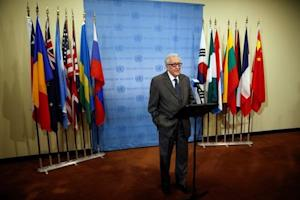 UN-Arab League Envoy to Syria Lakhdar Brahimi speaks to the media after Security Council consultations at the United Nations headquarters in New York