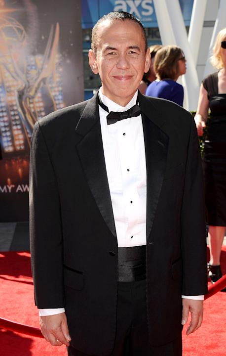 Gilbert Gottfried arrives at the 2013 Primetime Creative Arts Emmy Awards, on Sunday, September 15, 2013 at Nokia Theatre L.A. Live, in Los Angeles, Calif. (Photo by Scott Kirkland/Invision for Academ